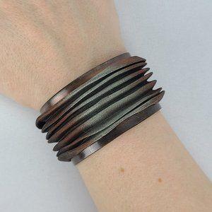 Sarah Cavender Brown Mesh Cuff Bracelet